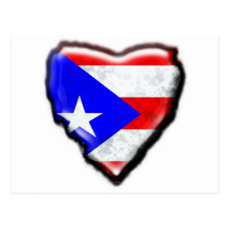 Puerto Rican Flag Heart Post Cards