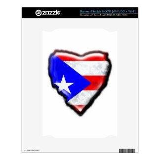Puerto Rican Flag Heart Decals For NOOK
