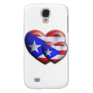 Puerto Rican Flag Hearts Galaxy S4 Covers