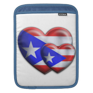 Puerto Rican Flag Hearts Sleeve For iPads