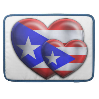 Puerto Rican Flag Hearts Sleeve For MacBooks