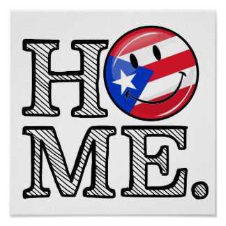 Puerto Rican Flag House Warmer Poster