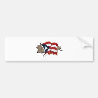 Puerto Rican Flag & Island Bumper Sticker