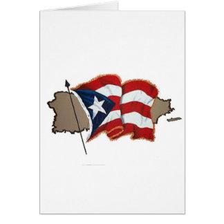 Puerto Rican Flag & Island Card