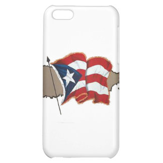 Puerto Rican Flag & Island Cover For iPhone 5C