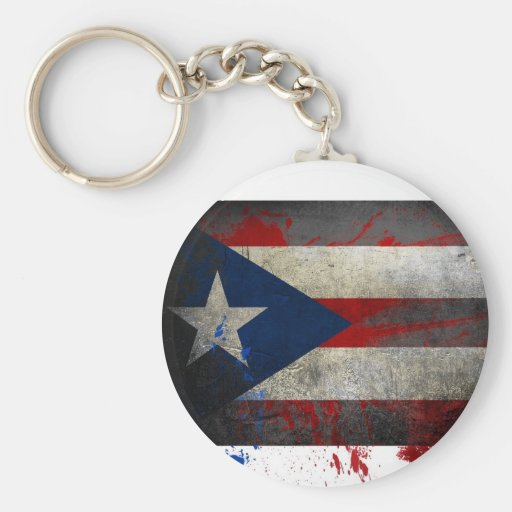 Puerto Rican Flag Keychain