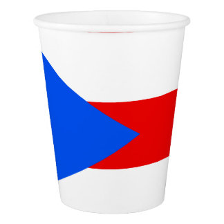 Puerto Rican flag paper cup