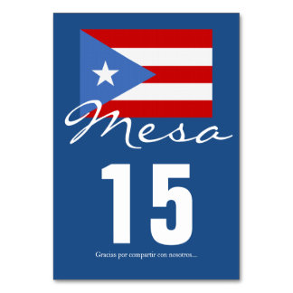 Puerto Rican Flag Party Theme Card