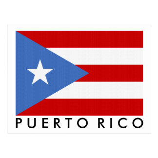 Puerto Rican Flag Personalized Postcard