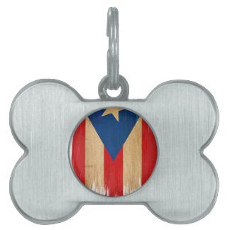 Puerto Rican Flag Pet Tags