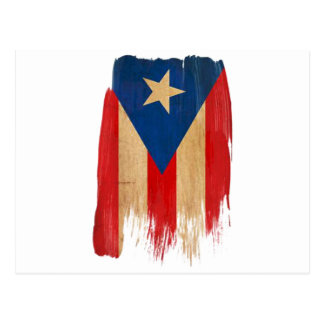 Puerto Rican Flag Post Card