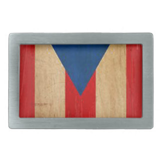 Puerto Rican Flag Rectangular Belt Buckles