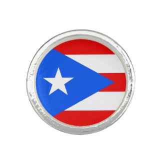 Puerto Rican flag Round Ring