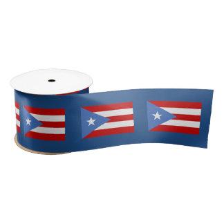 Puerto Rican Flag Satin Ribbon