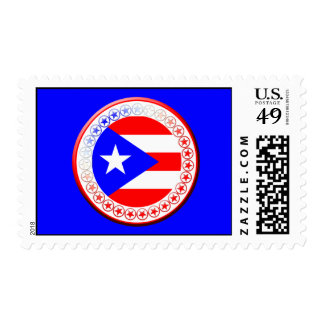 Puerto Rican Flag Seal Postage Stamps