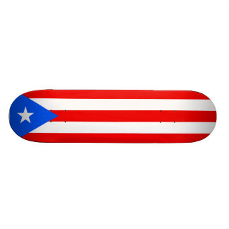 Puerto Rican Flag Skateboard. United States, USA Skateboard Deck