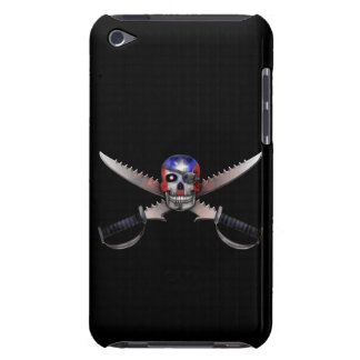 Puerto Rican Flag - Skull and Crossed Swords Barely There iPod Case