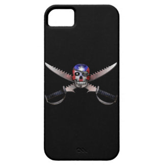 Puerto Rican Flag - Skull and Crossed Swords iPhone 5 Covers