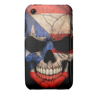 Puerto Rican Flag Skull iPhone 3 Case-Mate Cases