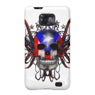 Puerto Rican Flag - Skull Galaxy SII Cover