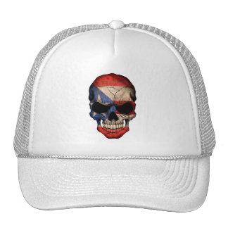 Puerto Rican Flag Skull Hats
