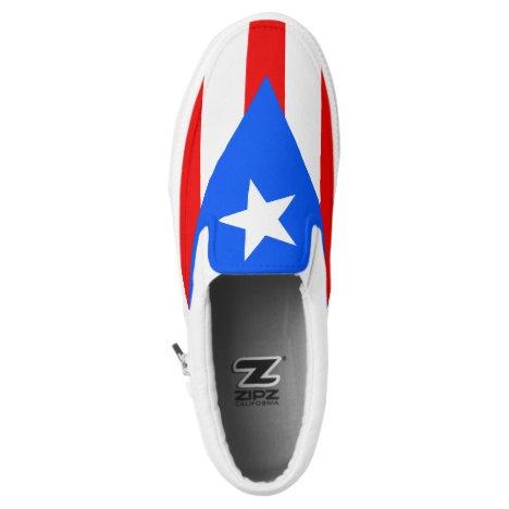 Puerto Rican Flag Slip On Sneaker Shoe