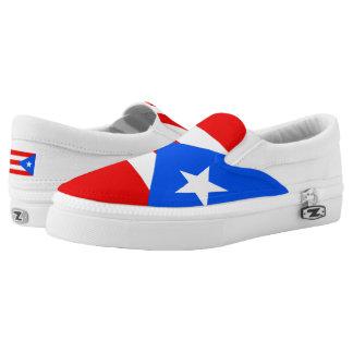 Puerto Rican flag Slip-On Sneakers