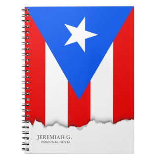 Puerto Rican Flag Spiral Note Books