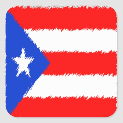 Puerto Rican Flag Square Sticker