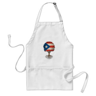 Puerto Rican Flag Tree of Life Customizable Adult Apron
