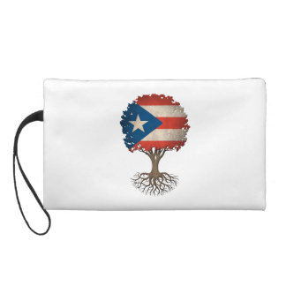 Puerto Rican Flag Tree of Life Customizable Wristlet Purse