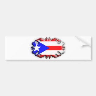 Puerto Rican Flag - Tribal Bumper Sticker