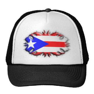 Puerto Rican Flag - Tribal Hat