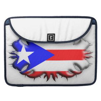 Puerto Rican Flag - Tribal MacBook Pro Sleeves