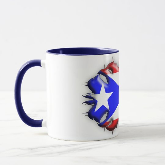 Puerto Rican Flag - Tribal Mug