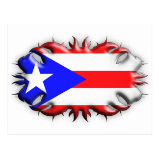 Puerto Rican Flag - Tribal Post Cards