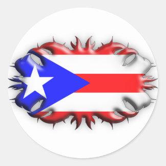 Puerto Rican Flag - Tribal Sticker