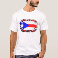Puerto Rican Flag - Tribal T-Shirt