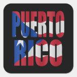 Puerto Rican flag Vierkant Sticker