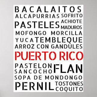 Puerto Rican Food Poster