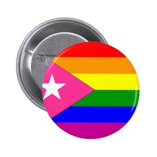 Puerto Rican Gay Pride Flag 2 Inch Round Button