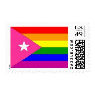 Puerto Rican Gay Pride Flag Postage