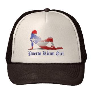 Puerto Rican Girl Silhouette Flag Trucker Hat