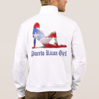 Puerto Rican Girl Silhouette Flag Printed Jackets