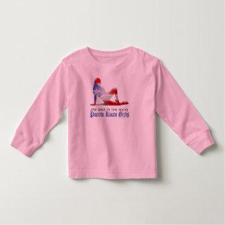 Puerto Rican Girl Silhouette Flag Toddler T-shirt