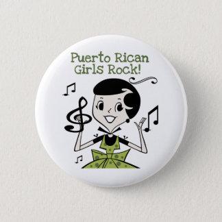 Puerto Rican Girls Rock Button