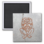 Puerto Rican goddess petroglyph - customized 2 Inch Square Magnet