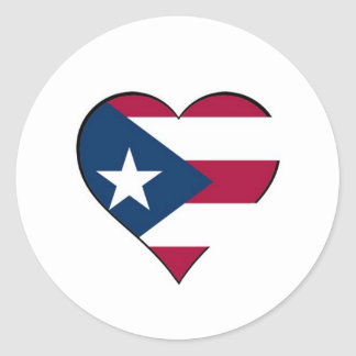 Puerto Rican heart sticker
