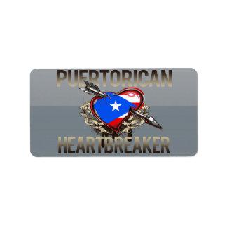 Puerto Rican Heartbreaker Personalized Address Labels