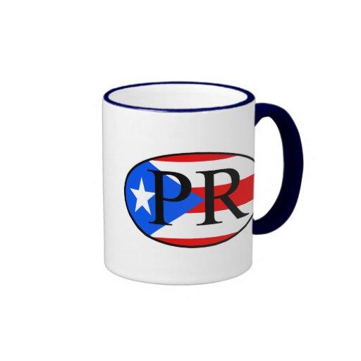 puerto rican oval ringer coffee mug